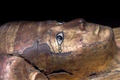 Egipski królowa sarkofag szczegółu zakończenie up Fotografia Royalty Free