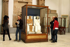 Egipski muzeum from inside Zdjęcia Stock