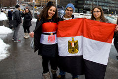 egipski narodów nyc protest jednoczący Zdjęcie Royalty Free