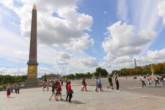 Egipski obelisk w Paryż, Francja Obraz Royalty Free