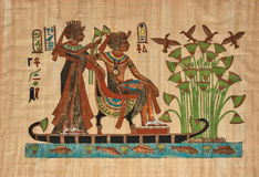 egipski papirus Obraz Royalty Free