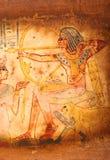 Egipski papirus z antykwarskimi hieroglifami Obraz Royalty Free