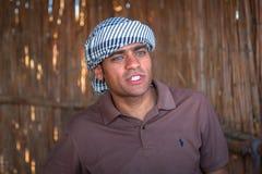 Egipski przewdonik pustynna wycieczka blisko Hurghada Obraz Stock