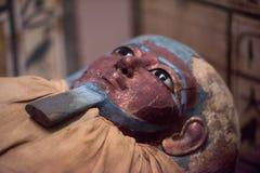 Egipski sarkofag szczegółu zakończenie up Fotografia Stock