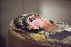 Egipski sarkofag szczegółu zakończenie up Obraz Stock