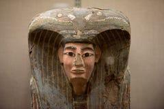 Egipski sarkofag szczegółu zakończenie up Zdjęcia Royalty Free
