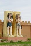 Egipskie mężczyzna statuy Obraz Royalty Free
