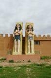 Egipskie statuy mężczyzna Fotografia Royalty Free