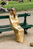 Egipskiej mamusi żywa statua obraz stock