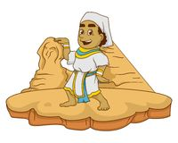 Egipt żartuje ilustrację z gradientami Fotografia Stock