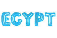 Egipt, błękitny kolor Zdjęcia Royalty Free