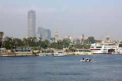 Egipt Cairo Nile rzeka Fotografia Stock