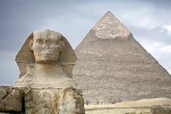 Egipt, Giza, ostrosłupy zdjęcia stock