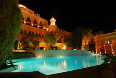 egipt hotelowy noc kurort Obrazy Royalty Free