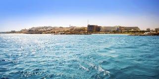 Egipt. Hurgada. View from the sea. Stock Image
