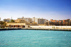 Egipt. Hurgada. View from the sea. New complexes under construction. Stock Photo