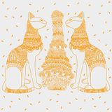 Egipt kota bielu tło royalty ilustracja