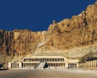 Egipt Luxor bahari bahri deir Egypt el ogólny hatshepsut Luxor przedpogrzebowy świątynny widok Przedpogrzebowa świątynia Hatsheps Zdjęcia Stock