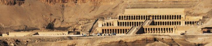 Egipt Luxor bahari bahri deir Egypt el ogólny hatshepsut Luxor przedpogrzebowy świątynny widok Przedpogrzebowa świątynia Hatsheps Fotografia Stock