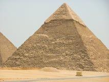 Egipt ostrosłupów piaska pustyni podróży słońce fotografia royalty free