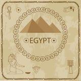 Egipt, ostrosłupy, hieroglify Obrazy Royalty Free
