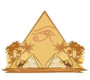Egipt ostrosłupy i symbole Zdjęcie Stock