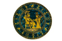Egipt plate. Egypt plate on white background Royalty Free Stock Images