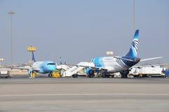 Egipt powietrza samoloty w lotnisku zdjęcie royalty free