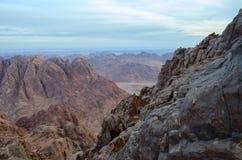 Egipt, skalisty pustkowie Synaj góry Zdjęcie Royalty Free