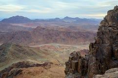 Egipt, skalisty pustkowie Synaj góry Obrazy Royalty Free