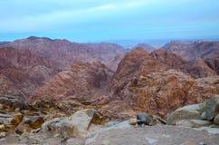 Egipt, Synaj góry, ranku widok Zdjęcia Stock