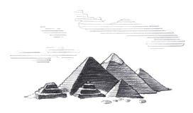 Egipt wielcy Ostros?upy royalty ilustracja