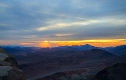 Egipt, wschód słońca w Synaj górach Fotografia Stock