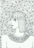 egiptian девушка Стоковые Фото