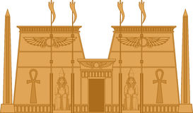 Egiptian Temple. Illustration of the Egyptian Temple isolated on white Royalty Free Stock Photography