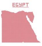 Egipto África Dot Map Imagen de archivo libre de regalías