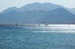 Egipto, Dahab, peninsula do Sinai. Mar Vermelho. Fotos de Stock Royalty Free