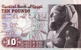 Egipto diez libras Fotos de archivo