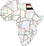 Egipto en la correspondencia de África Imagen de archivo libre de regalías