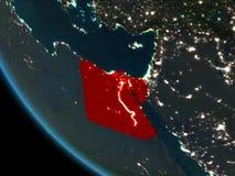 Egipto en la noche de la órbita stock de ilustración