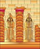 Egipto Luxor e estátua de Ramses ilustração royalty free