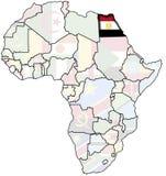 Egipto no mapa de África Imagem de Stock Royalty Free