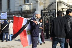 Egipto \ 'protestos de s Imagem de Stock Royalty Free