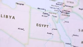 Egito em um mapa com Defocus ilustração royalty free