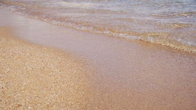 Egito, Mar Vermelho, praia da areia do ouro com Crystal Clear Water Soft Waves no movimento lento video estoque