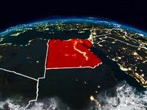 Egito na noite ilustração stock