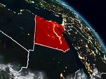 Egito na noite ilustração do vetor