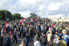 Egiziani che dimostrano contro Presidente Morsi Fotografia Stock Libera da Diritti