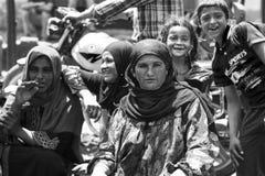 Egiziani in un mercato del villaggio Immagine Stock Libera da Diritti