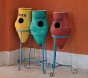 Egiziano che ricicla i contenitori Fotografie Stock Libere da Diritti